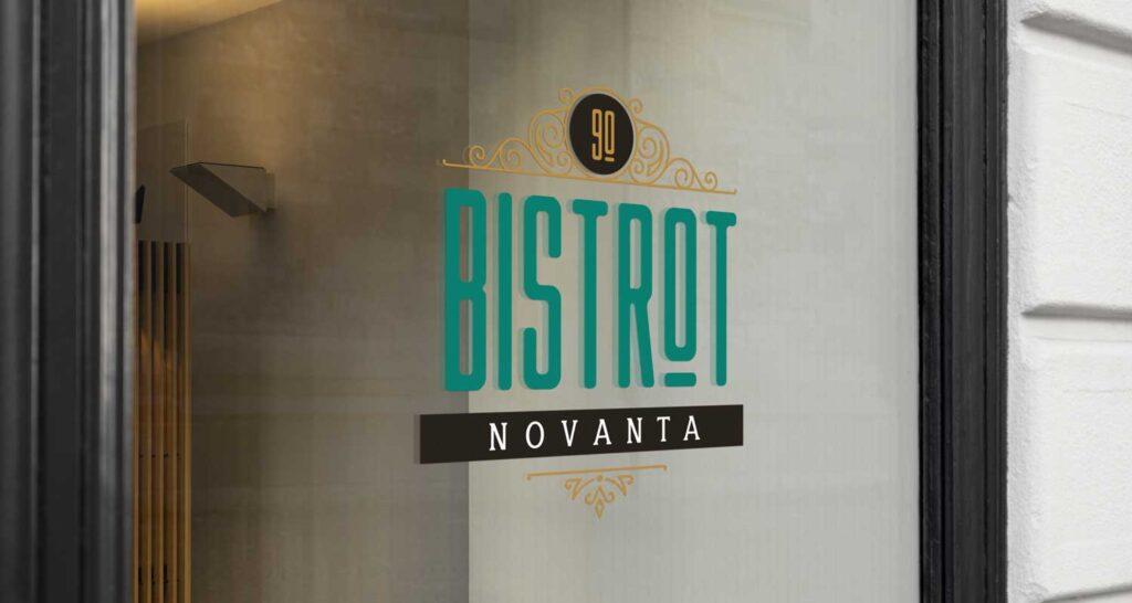 bistrot90 realizzazione logo