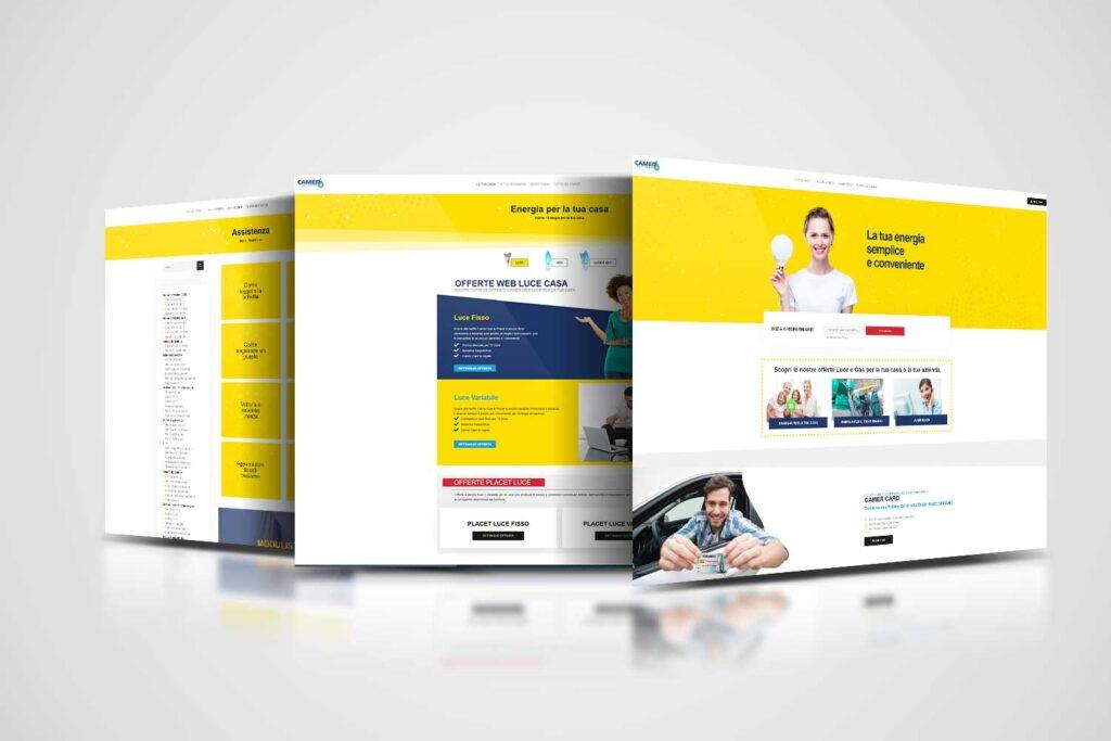 camer gas&power realizzazione website