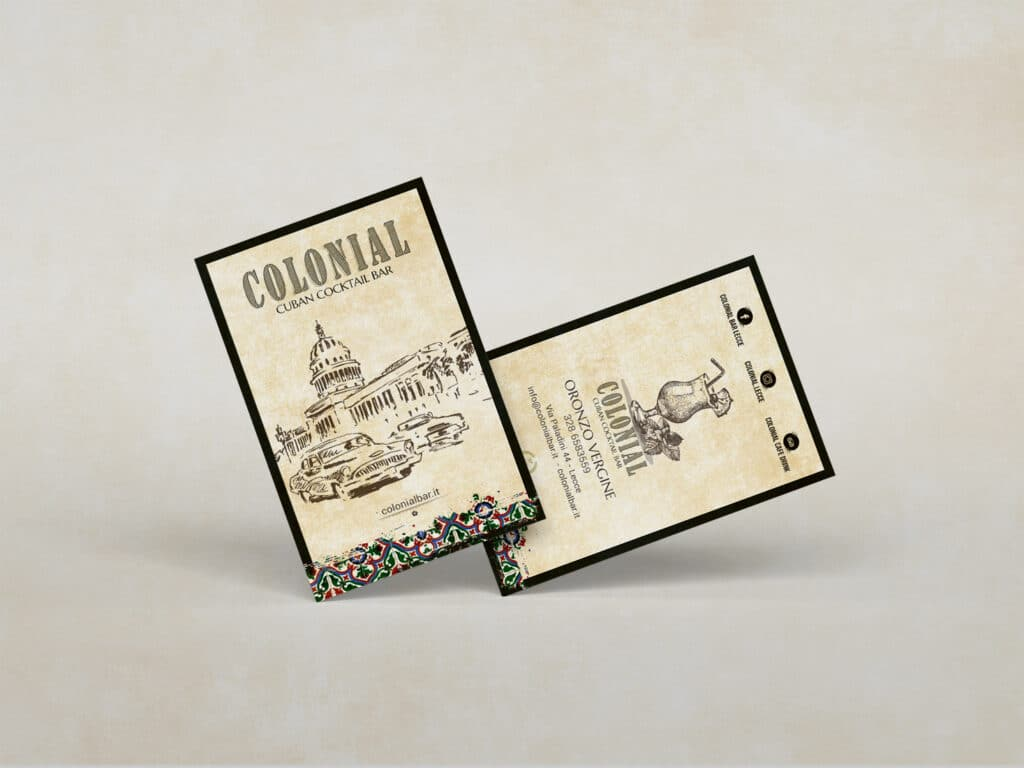 colonial bar grafica business card