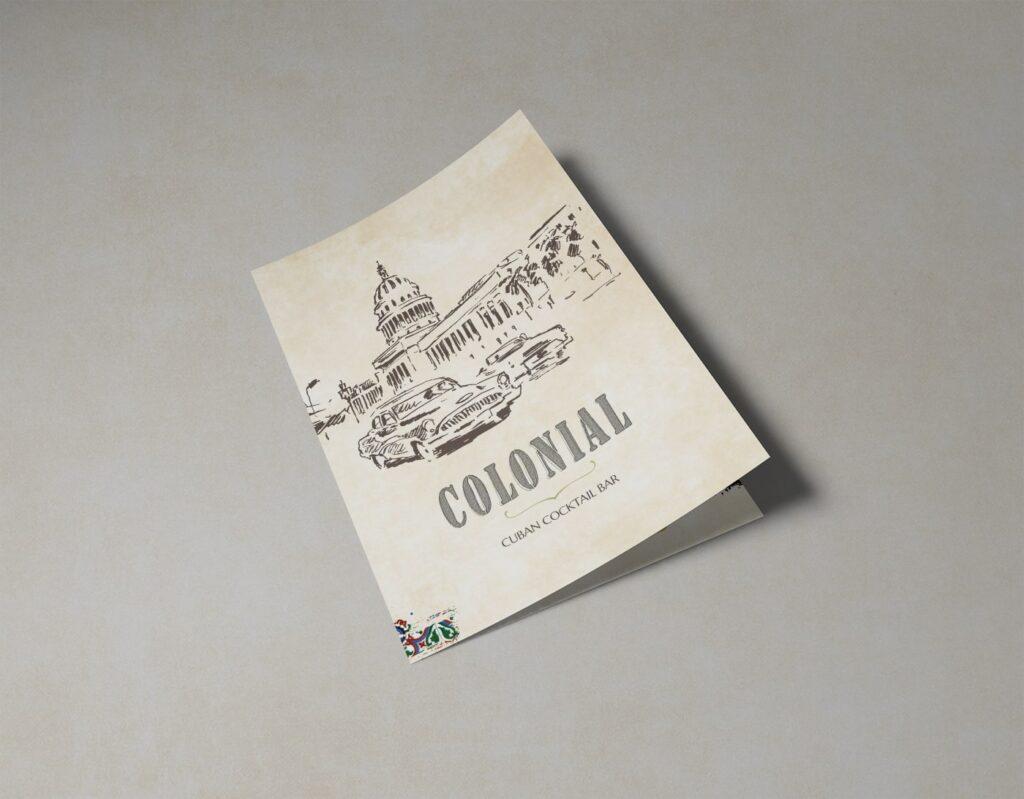 colonial bar realizzazione grafica menu