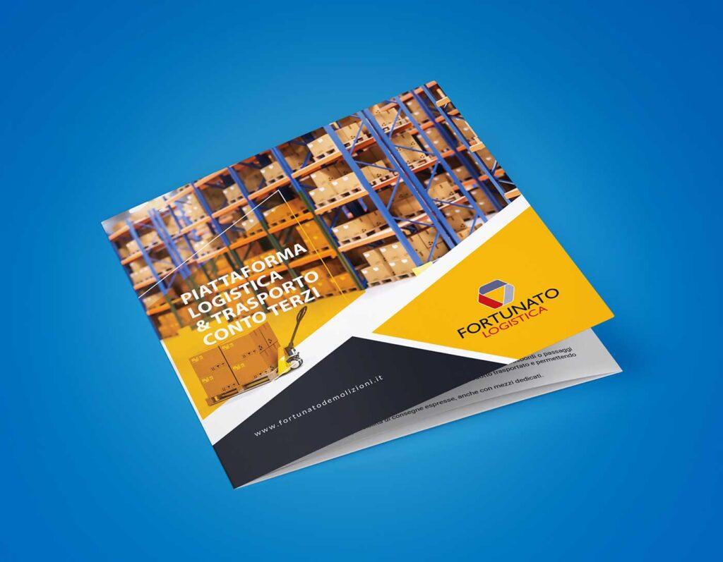 fortunato logistica realizzazione brochure