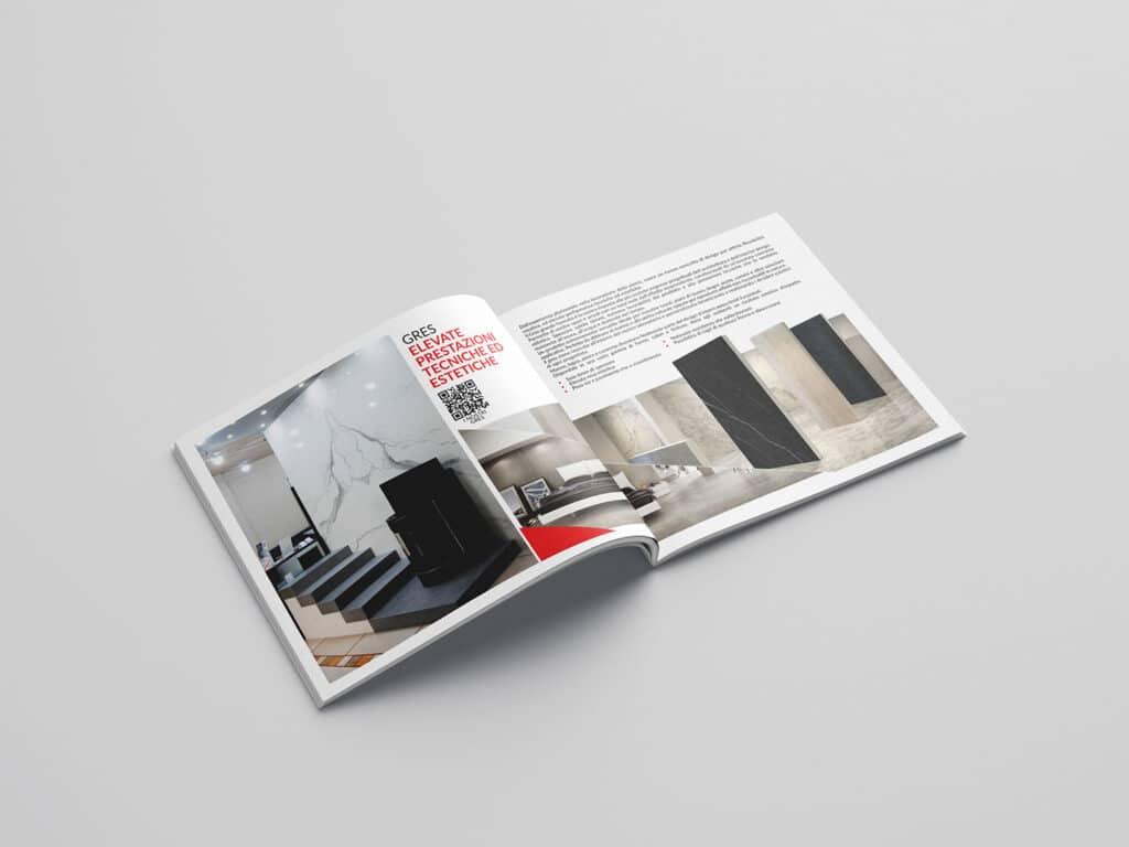 progettazione e realizzazione brochure aziendale marmi bianco